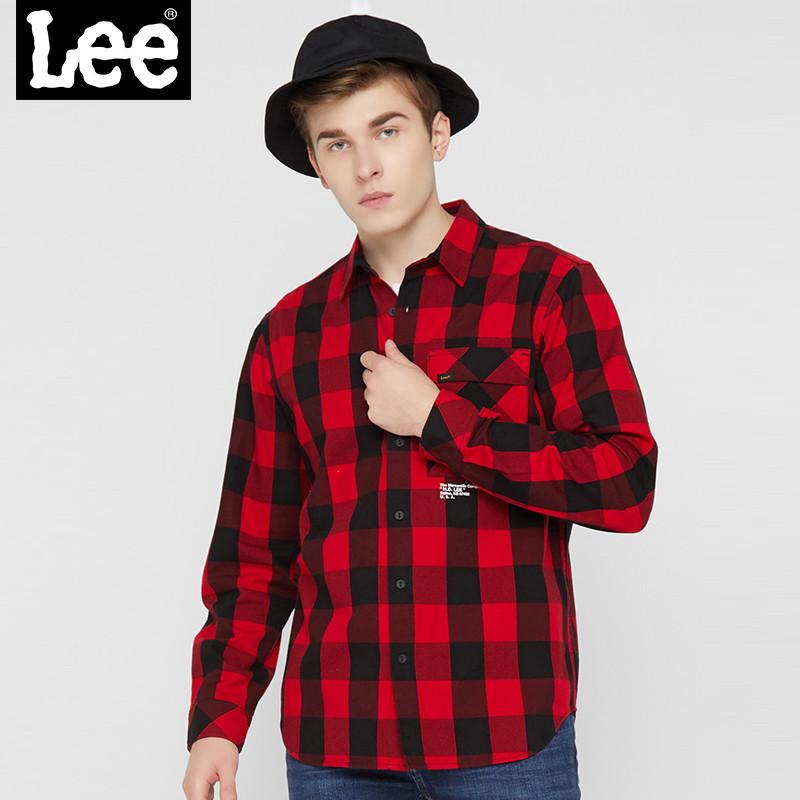 LEE格子长袖衬衫