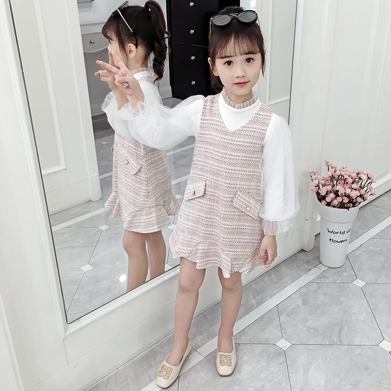 AF女童2019小香风套装