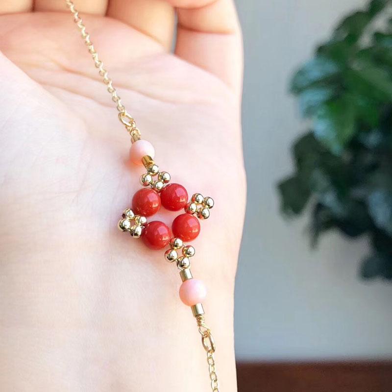 良材汇意大利红珊瑚时尚手链