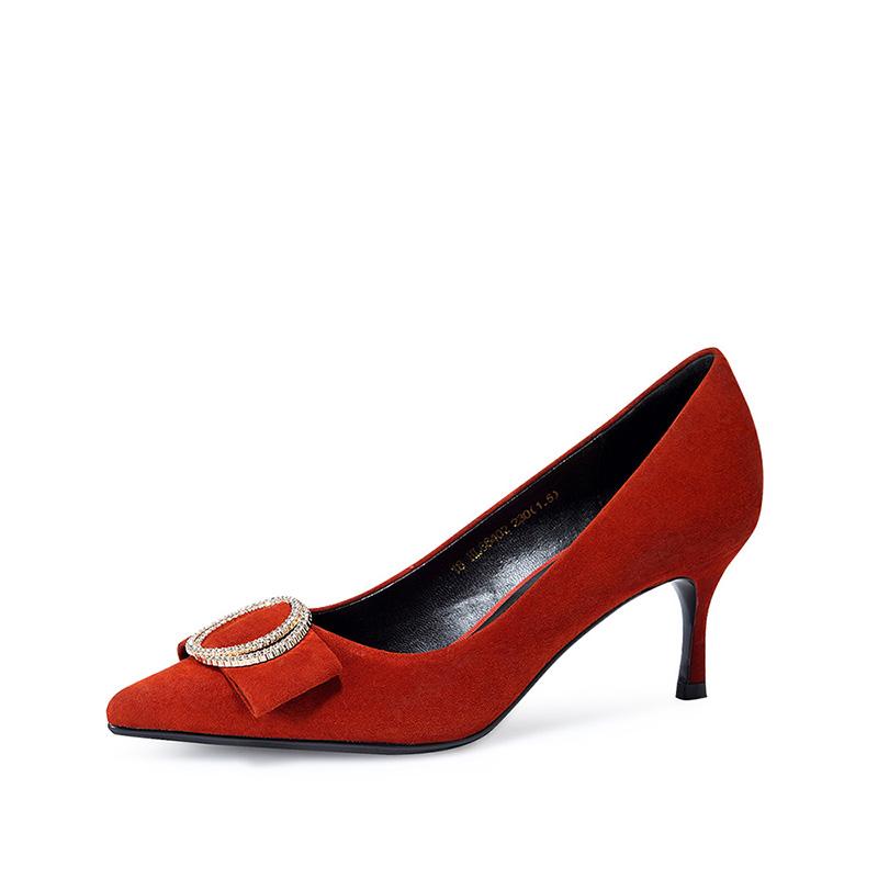 哈森女皮鞋_沙驰Satchi松紧带切尔西军靴_单鞋_鞋包众趣